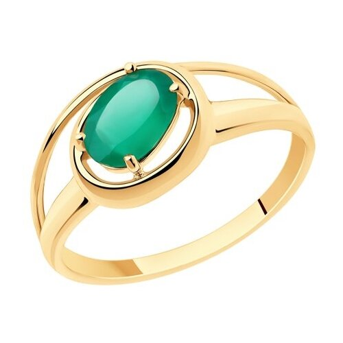 Diamant Кольцо из золота с агатом 51-310-00805-3, размер 18