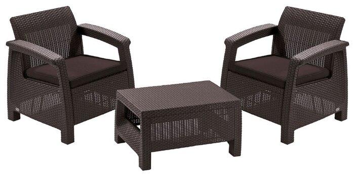 Комплект мебели KETER Corfu weekend (стол, 2 кресла)