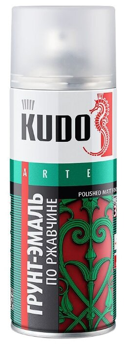 Грунт-эмаль KUDO гладкая матовая по ржавчине