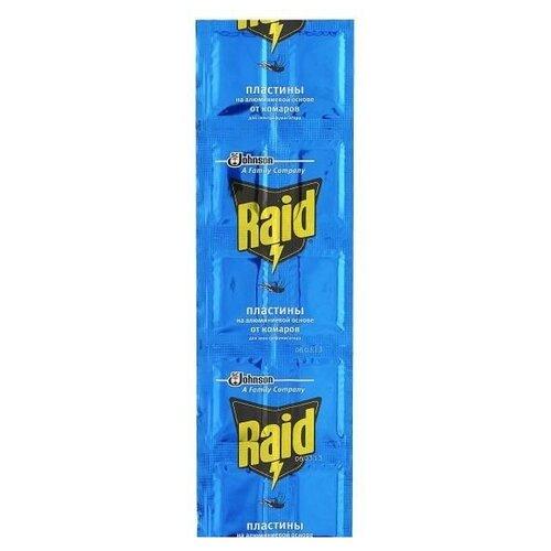 Пластина для фумигатора Raid от комаров на алюминиевой основе (10 шт.)