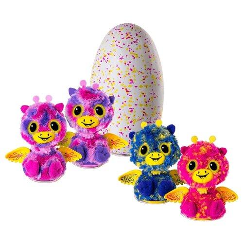 Купить Интерактивная мягкая игрушка Hatchimals Surprise Twins - Giraven (Жирафики) 19110-PINK, Роботы и трансформеры