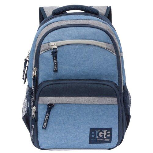Купить Grizzly Рюкзак RB-054-7, синий, Рюкзаки, ранцы