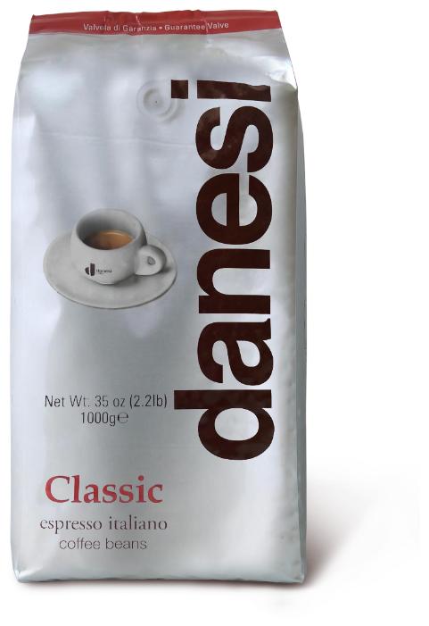 Купить Кофе в зернах Danesi Classic, мягкая упаковка, арабика/робуста, 1000 г по низкой цене с доставкой из Яндекс.Маркета (бывший Беру)