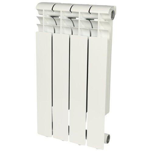 Радиатор секционный алюминий ROMMER Profi AL 500 x4 подключение универсальное боковое RAL 9016 биметаллический радиатор rifar рифар b 500 нп 10 сек лев кол во секций 10 мощность вт 2040 подключение левое