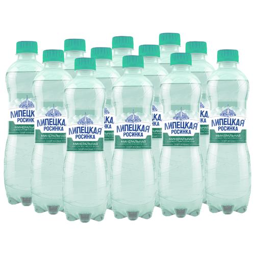 Вода минеральная природная питьевая столовая Липецкая-Лайт газированная, ПЭТ, 12 шт. по 0.5 л минеральная природная вода jermuk газированная алюминиевая банка 12 шт по 0 33 л