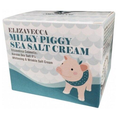 Elizavecca Milky Piggy Sea Salt Cream Омолаживающий крем для лица с морской солью, 100 г недорого