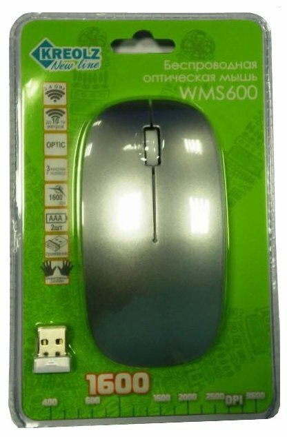 Мышь Kreolz WMS 600 Silver USB