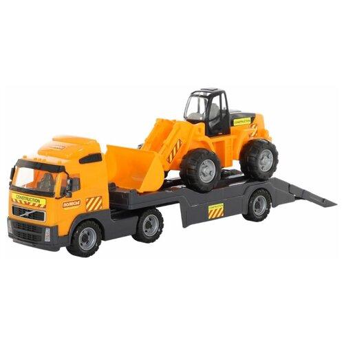Набор техники Wader трейлер Volvo и трактор-погрузчик (8831) набор машин полесье трейлер и трактор погрузчик mammoet volvo 204 03 57105 черный красный