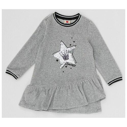 Купить Платье Button Blue размер 122, серый, Платья и сарафаны