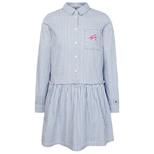 Платье TOMMY HILFIGER размер 116, голубой/полоска