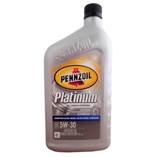 Фото - Моторное масло Pennzoil Platinum European Ultra Diesel 5W-30 0.946 л моторное масло pennzoil gold synthetic blend sae 5w 30 0 946 л