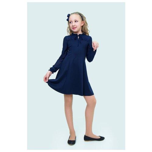 Купить Платье Ladetto 2Т56 размер 32-134, темно-синий, Платья и сарафаны
