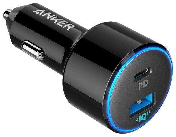 Автомобильная зарядка ANKER PowerDrive 2 PD/PIQ, черный фото 1