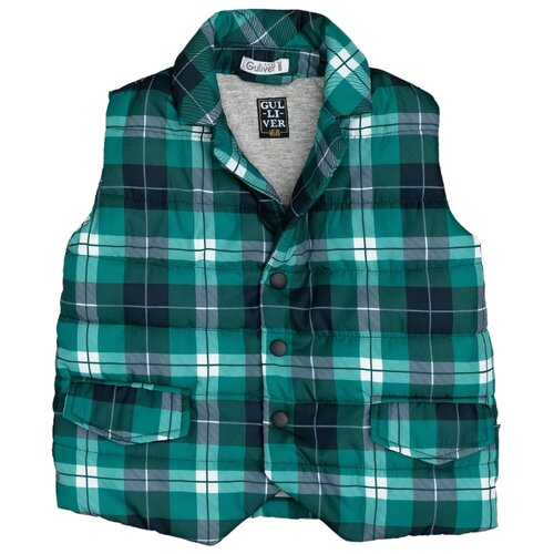 Купить Жилет Gulliver Baby размер 86, зеленый, Куртки и пуховики