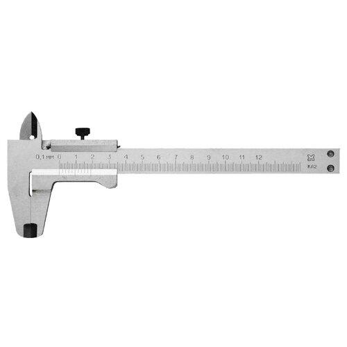 Нониусный штангенциркуль ЗУБР 3445-125 125 мм, 0.1 мм штангенциркуль чиз шцк 1 300 0 02