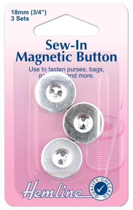 Hemline Кнопки магнитные пришивные 481, 18 мм, 3 шт.