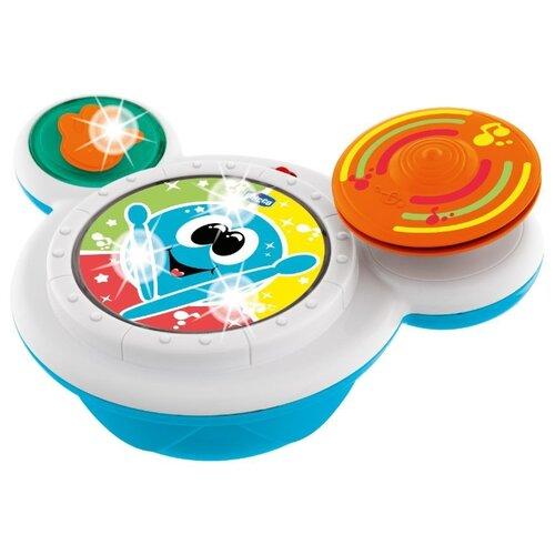 Купить Интерактивная развивающая игрушка Chicco Барабан белый/синий/оранжевый, Развивающие игрушки