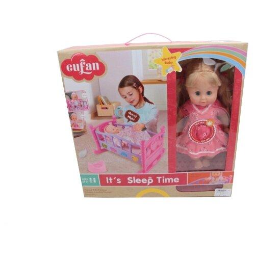 Кукла Shantou Gepai с кроваткой, B1784198 кукла shantou gepai с коляской cs5832ha