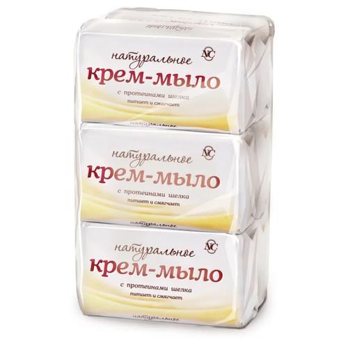 Купить Крем-мыло Невская Косметика Натуральное с протеинами шелка, 90 г, 6 шт.