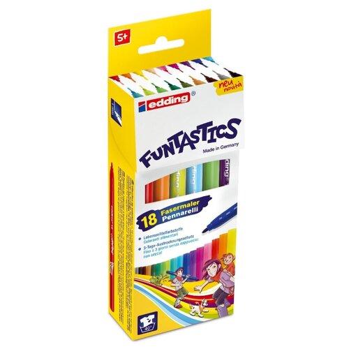 Edding Фломастеры 15-Funtastics 1 мм, 18 шт. разноцветные edding фломастеры 15 funtastics 1 мм 12 шт разноцветные
