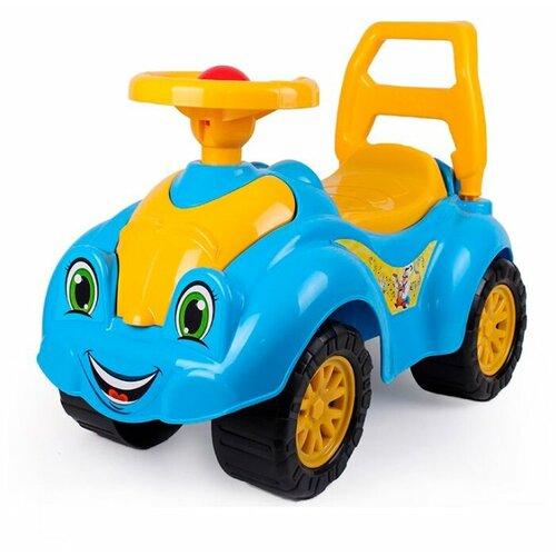 Фото - Каталка-толокар ТехноК Автомобиль для прогулок (3510) со звуковыми эффектами синий/желтый каталки технок автомобиль для прогулок т6665