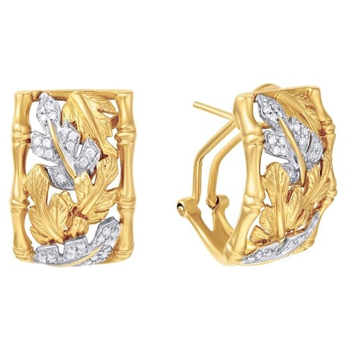 JV Серьги из золота с бриллиантами K958DWV4YG-YG