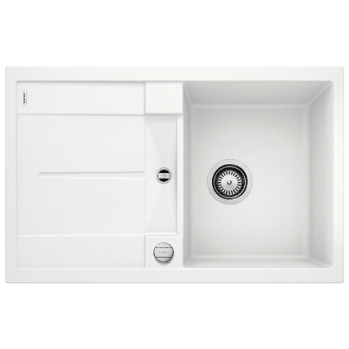 Врезная кухонная мойка 78 см Blanco Metra 45S белый врезная кухонная мойка 78 см blanco metra 45s 525311 бетон