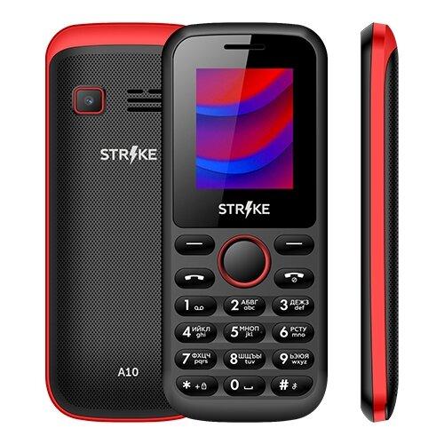 Телефон Strike A10 черно-красный телефон