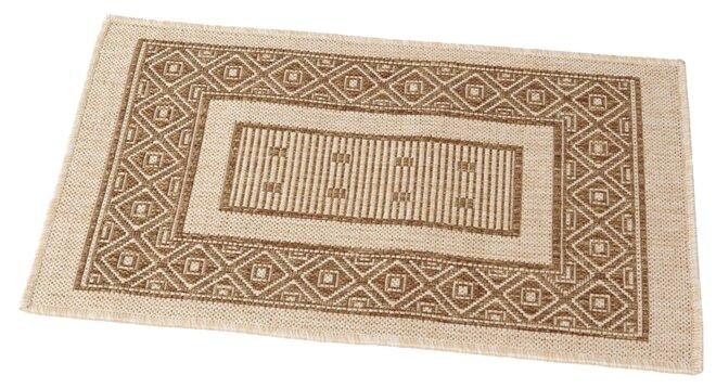 Придверный коврик RemiLing Джут 2, размер: 0.8х0.5 м, бежевый/коричневый