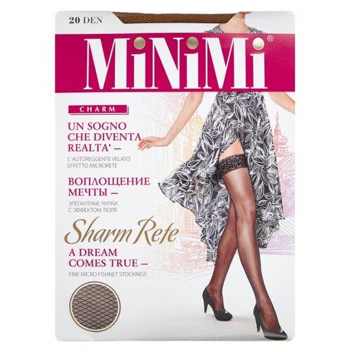 цена Чулки MiNiMi Sharm Rete 20 den, размер 2-S/M, noce (коричневый) онлайн в 2017 году