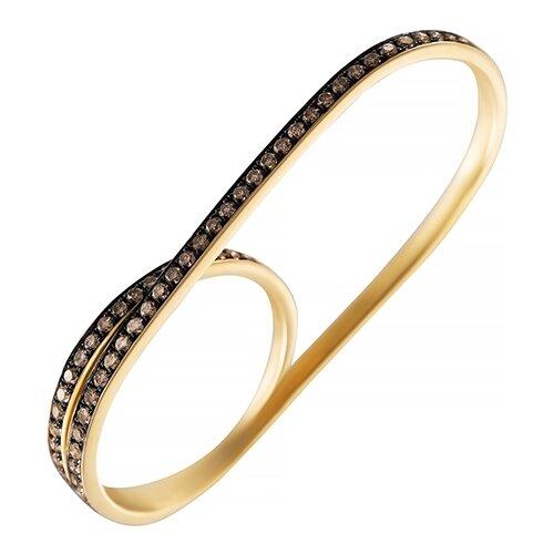 цена на JV Кольцо с 72 бриллиантами из жёлтого золота AAS-3983R-KO-DN-YG, размер 17.5
