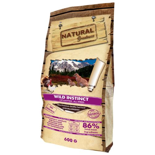 Корм для кошек NATURAL Greatness Wild Instinct беззерновой 600 г greatness