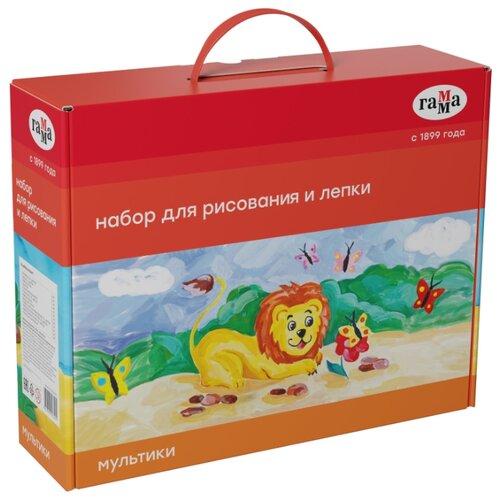 Купить ГАММА Набор для рисования и лепки Мультики 12 предметов (250620201), Наборы для рисования