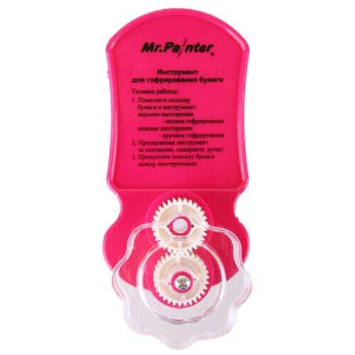 Купить Mr. Painter Инструмент для гофрирования бумаги QGСR розовый, Квиллинг