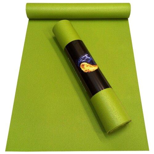 Коврик (ДхШхТ) 173х60х0.45 см AKO YOGA Yin-Yang Studio зеленый однотонный
