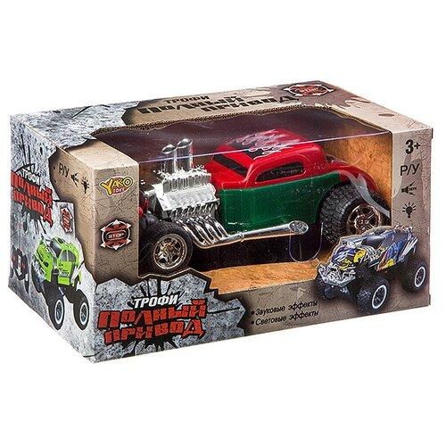 Купить Гоночная машина Yako Трофи (М93318) зеленый/красный, Радиоуправляемые игрушки