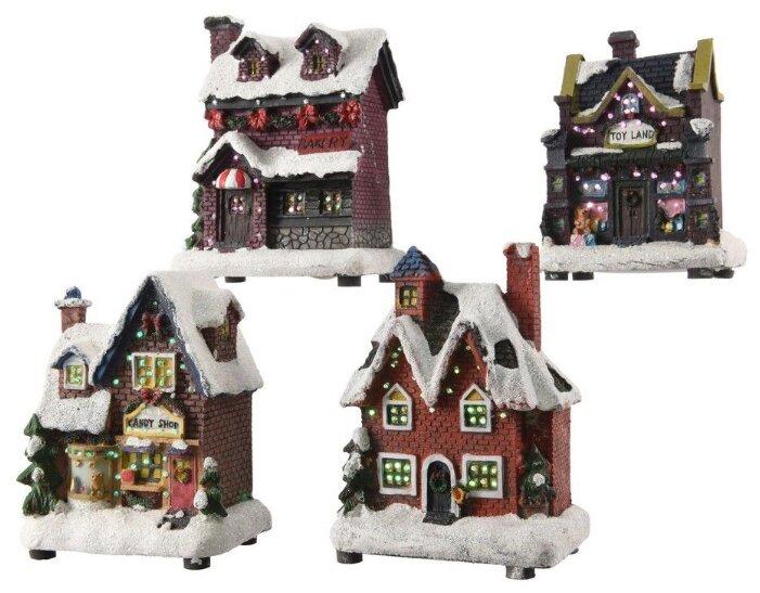 Kaemingk Новогодний домик с подсветкой Магазин Игрушек 12*9 см на батарейках 481401
