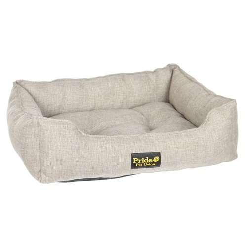 Фото - Лежак для собак PRIDE Прованс 70х60х23 см песочный лежак для животных сolour pride прованс 70х60х23см песочный