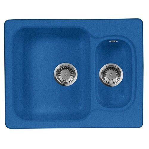 Фото - Врезная кухонная мойка 61 см А-Гранит M-09 синий врезная кухонная мойка 61 см а гранит m 09 песочный