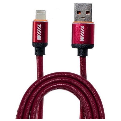 Кабель WIIIX USB - Lightning (CB810-2A-U8-LR-10) 1 м красный