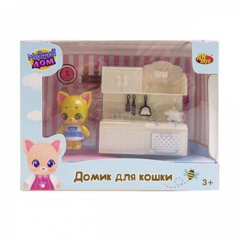 Игровой набор ABtoys Уютный дом - Домик для кошки малый. Кухня PT-01305