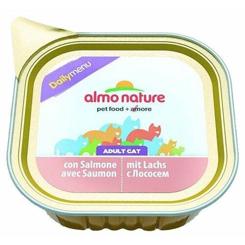 Влажный корм для кошек Almo Nature Daily Menu, с лососем 100 г (паштет)