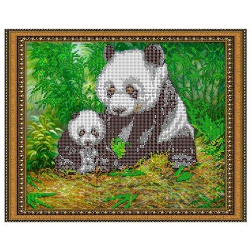 Светлица набор для вышивания бисером Панда, бисер Чехия 30 х 24 см (362)