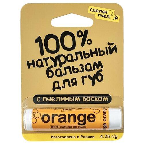 Сделано пчелой Бальзам для губ Orange сделано чтобы прилипать