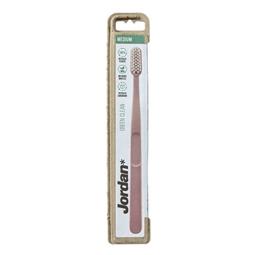 Купить Зубная щетка Jordan Green clean, средняя, розовый