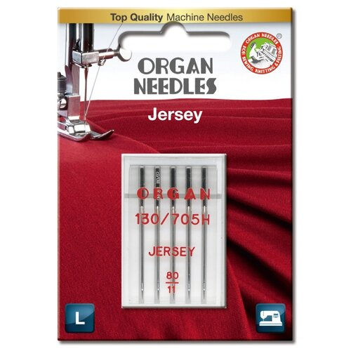 Игла/иглы Organ Jersey 80 серебристый игла иглы organ super stretch 75 серебристый