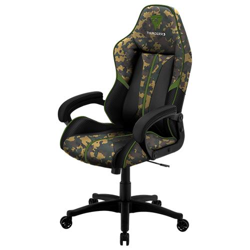Компьютерное кресло ThunderX3 BC1 Camo игровое, обивка: искусственная кожа, цвет: ranger green кресло компьютерное игровое thunderx3 tgc12 bg черный зеленый 4710700959572