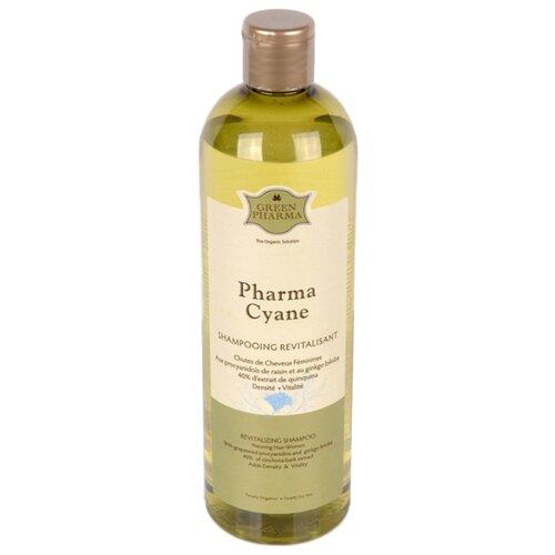 GreenPharma шампунь Pharma Cyane против выпадения волос у женщин с процианидолами винограда и гинкго билоба, 500 мл