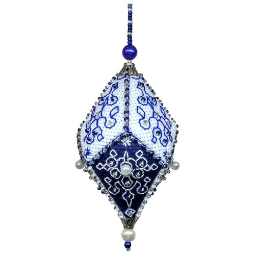 Купить ZENGANA Набор для вышивания бисером и нитками Сапфир 6 × 10 см (М-073), Наборы для вышивания