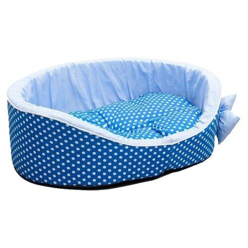 Лежак для собак и кошек Сима-ленд Нежность 3440312/3440313 49х36х17 см голубой холи ленд крем для век